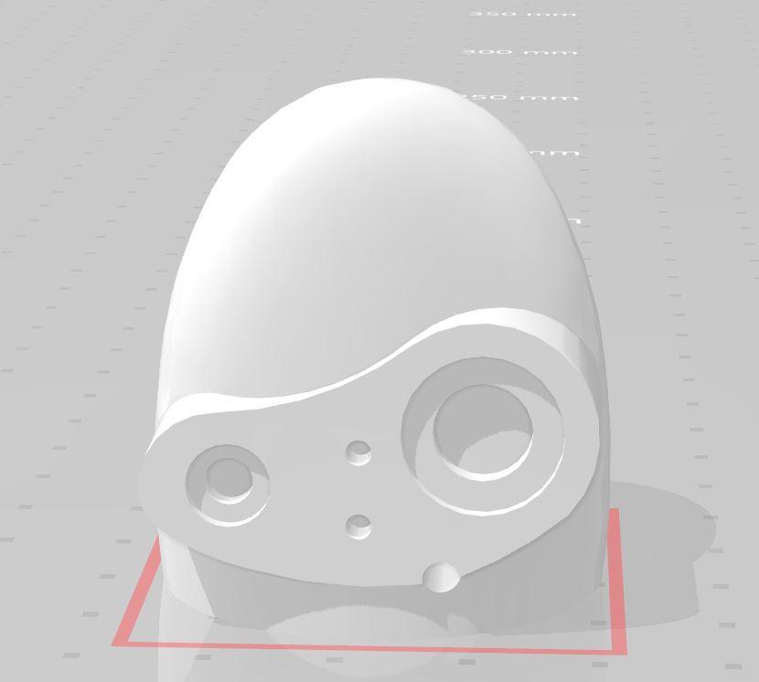 Thingiverseからラピュタのロボット兵ヘッドの3Dデータをダウンロードして造形してみた
